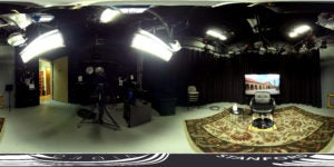 360 view of TV studioA